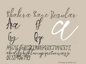 Shafira Sans Regular Version 1.000图片样张