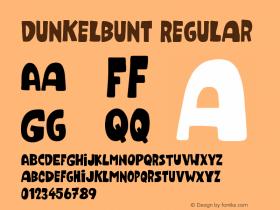 Dunkelbunt Regular Version 001.000 Font Sample