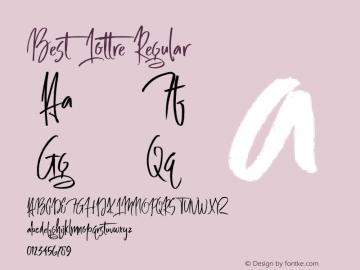 Best Lottre Regular Version 1.000;PS 001.001;hotconv 1.0.56 Font Sample
