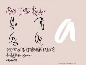 Best Lottre Regular Unknown Font Sample