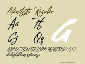 Manifesto Regular Version 1.000 Font Sample