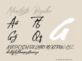 Manifesto Regular 1.000 Font Sample