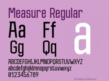 Measure Regular Version 1.000; ttfautohint (v1.4.1)图片样张
