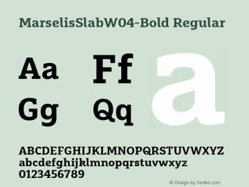 MarselisSlabW04-Bold Regular Version 7.504图片样张