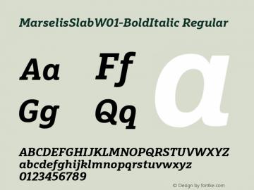 MarselisSlabW01-BoldItalic Regular Version 7.504图片样张