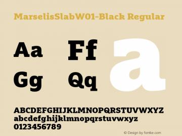 MarselisSlabW01-Black Regular Version 7.504图片样张