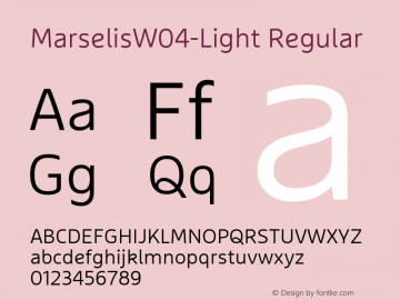 MarselisW04-Light Regular Version 7.504图片样张