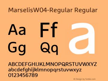 MarselisW04-Regular Regular Version 7.504图片样张