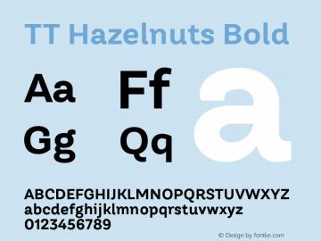 TT Hazelnuts Bold Version 1.000; ttfautohint (v1.5) Font Sample