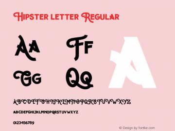 Hipster letter Regular Unknown图片样张