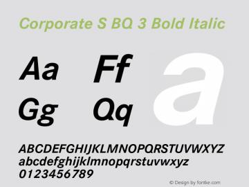 Corporate S BQ 3 Bold Italic 001.000图片样张