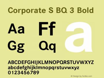 Corporate S BQ 3 Bold 001.000图片样张