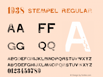 1938 STeMPEL Regular Version 1.00 January 16, 2017, initial release Font Sample