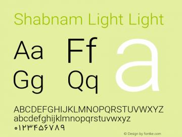 Shabnam Light Light Version 1.1.0 Font Sample