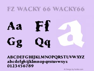FZ WACKY 66 WACKY66 Version 1.000 Font Sample