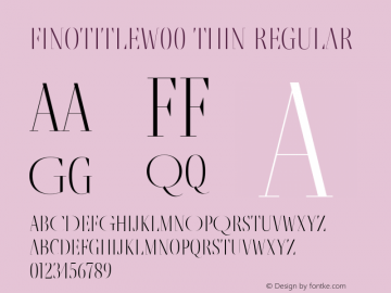 FinoTitleW00-Thin Regular Version 1.12 Font Sample