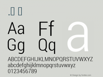 .  Version 1.100141; 2013 Font Sample