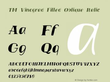 TM Vinograd Filled Oblique Italic Version 001.000图片样张
