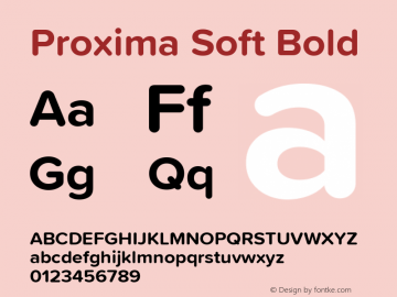 Proxima Soft Bold Version 1.001 Font Sample