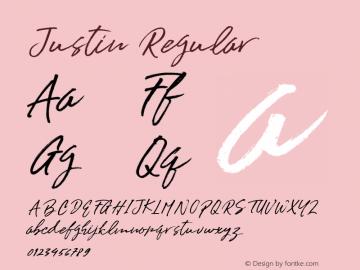 Justin Regular 1.000 Font Sample