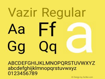Vazir Regular Version 7.0.0 Font Sample