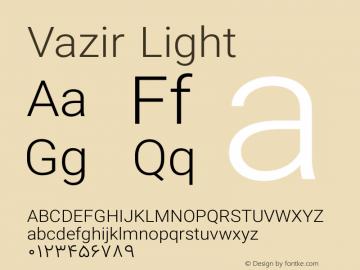 Vazir Light Version 7.0.0 Font Sample