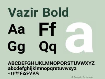 Vazir Bold Version 7.0.0 Font Sample