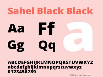 Sahel Black Black Version 1.0.0-alpha9 Font Sample