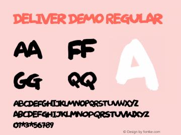 Deliver DEMO Regular Version 1.000 Font Sample