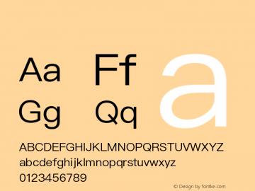 系统字体 细体 11.0d44e1 Font Sample