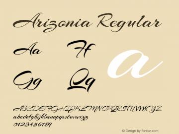 Arizonia Regular Version 1.003; ttfautohint (v1.4.1) Font Sample
