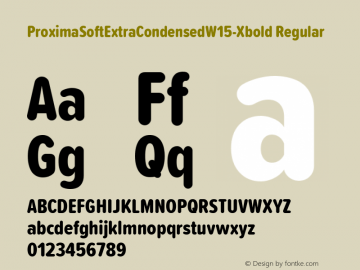 ProximaSoftExtraCondensedW15-Xbold Regular Version 1.20 Font Sample