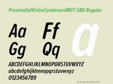 ProximaSoftExtraCondensedW07-SBIt Regular Version 1.20 Font Sample
