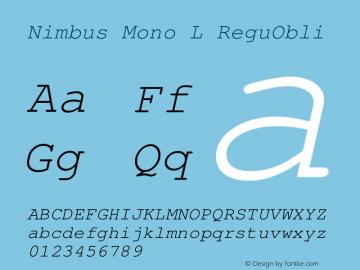 Nimbus Mono L ReguObli Version 1.06图片样张