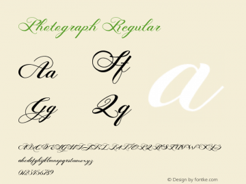 Photograph Regular Version 1.000 Font Sample