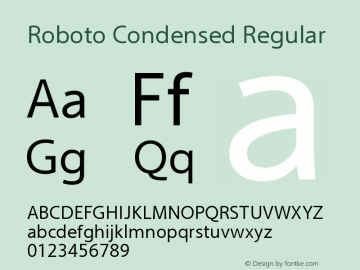 Roboto Condensed Regular Version 2.00 October 14, 2016 Font Sample