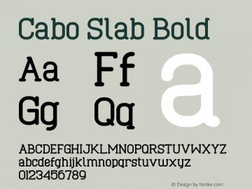Cabo Slab Bold Version 1.001;Fontself Maker 1.1.0 Font Sample