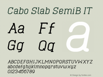 Cabo Slab SemiB IT Version 1.001;Fontself Maker 1.1.0 Font Sample