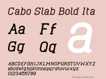 Cabo Slab Bold Ita Version 1.001;Fontself Maker 1.1.0 Font Sample