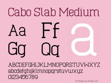 Cabo Slab Medium Version 1.001;Fontself Maker 1.1.0 Font Sample