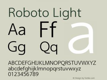 Roboto Light Version 2.00 December 14, 2016 Font Sample