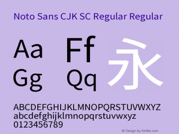 Noto Sans CJK SC Regular Font,Noto Sans CJK SC Font