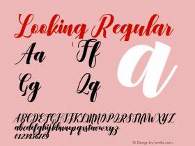 Looking Regular Version 1.000 Font Sample