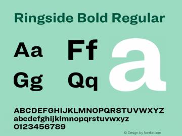 Ringside Bold Regular Version 1.200 Font Sample