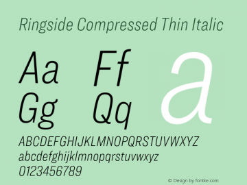 Ringside Compressed Thin Font,RingsideCompressed-ThinItalic