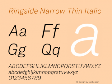 Ringside Narrow Thin Font,RingsideNarrow-ThinItalic Font,Ringside