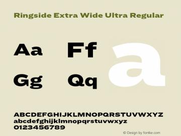 Ringside Extra Wide Ultra Font,RingsideExtraWide-Ultra Font