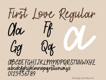 First Love Regular Version 1.0图片样张