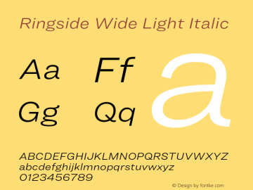 Ringside Wide Light Font,RingsideWide-LightItalic Font,Ringside Wide