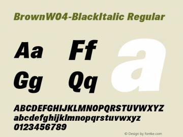 BrownW04-BlackItalic Regular Version 1.00图片样张